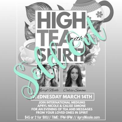 High Tea with Spirit 3.14.18