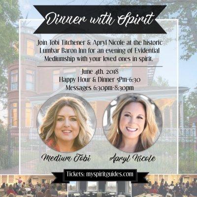 Dinner with Spirit at the Lumbar Baron Inn 6.4.18