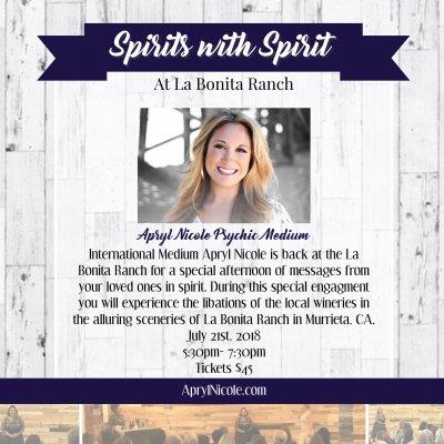 Spirits with Spirit at La Bonita Ranch