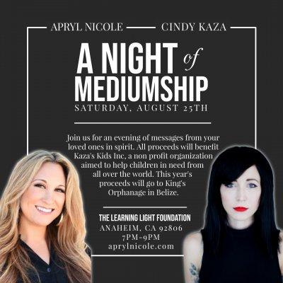 A Night of Mediumship for Kaza's Kids Inc.