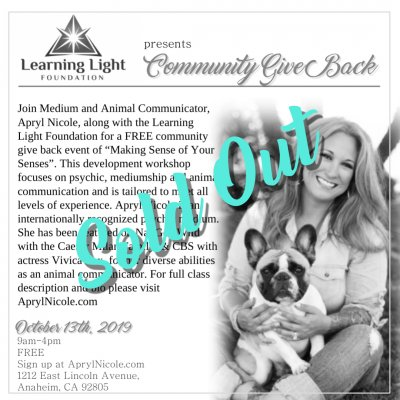 FREE Community Give Back Workshop
