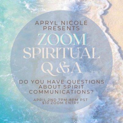 Zoom Spiritual Q&A